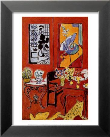 Grand int rieur rouge 1948 posters par henri matisse sur for Grand interieur rouge