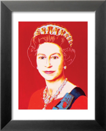 Reigning Queens: Queen Elizabeth II of the United Kingdom, c.1985 (Light Outline) Laminierter gerahmter Kunstdruck