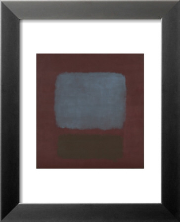 No. 37 / No. 19 (Slate Blue and Brown on Plum), 1958 Poster di Mark Rothko