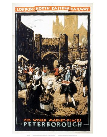 Old World Market Places Peterborough Prints