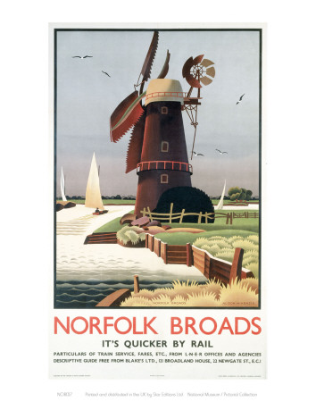 Norfolk Broads Windmill Art Print