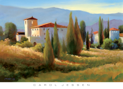 Blue Shadows in Tuscany I Posters by Carol Jessen