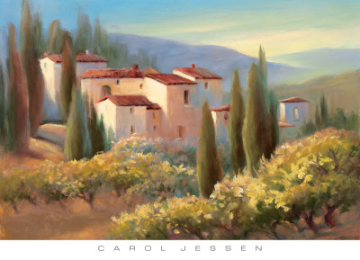 Blue Shadows in Tuscany II Prints by Carol Jessen