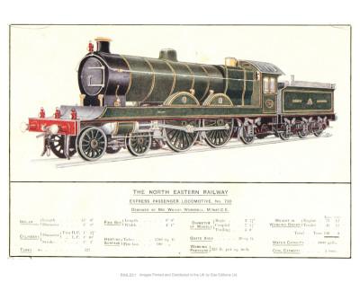 Express Passenger Locomotive, No.730, North Eastern Railway Print