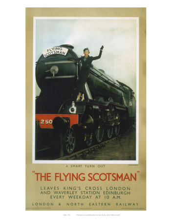 Woman Waiving from the Flying Scotsman Prints