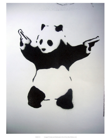 Pandamonium Kunstdruck