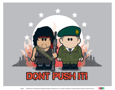 Weenicons: Don't Push It! Reproduction d'art