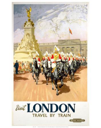 Visit London Travel by Train Prints