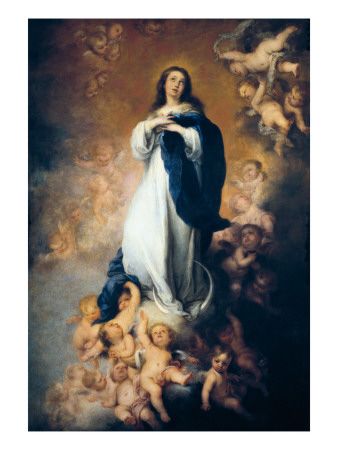 "The Immaculate Conception ""Of Soult"" Print by Bartolome Esteban Murillo"