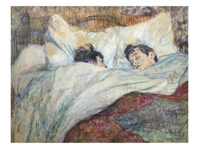 The Bed Art by Henri de Toulouse-Lautrec