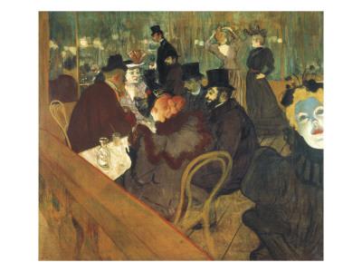At the Moulin Rouge Prints by Henri de Toulouse-Lautrec