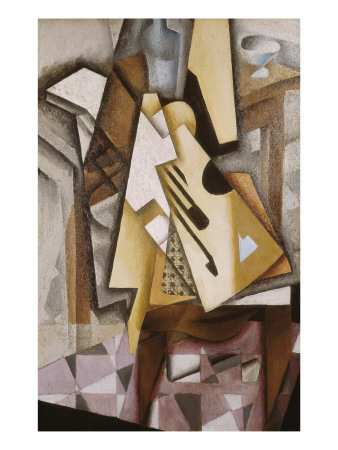 Guitar on a Chair Prints by Juan Gris