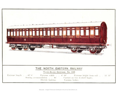 Third Class Carriage, No. 646, North Eastern Railway Prints