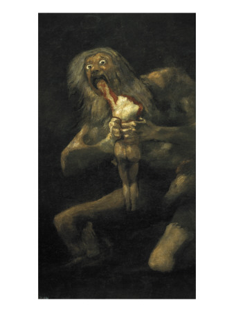 Saturn Posters by Francisco de Goya