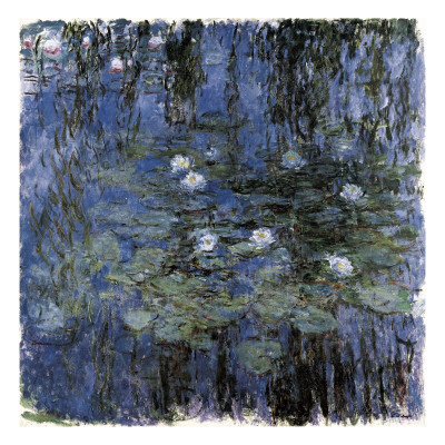 Blue Waterlilies Poster by Claude Monet