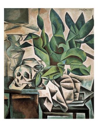 Still Life with Skull Kunstdrucke von Bohumil Kubista