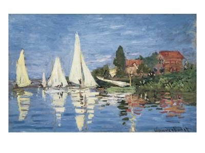 Regatta at Argenteuil Prints by Claude Monet