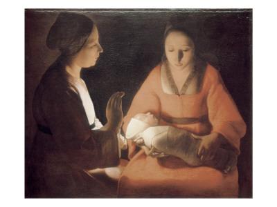 The Newborn Baby Poster by Georges de La Tour