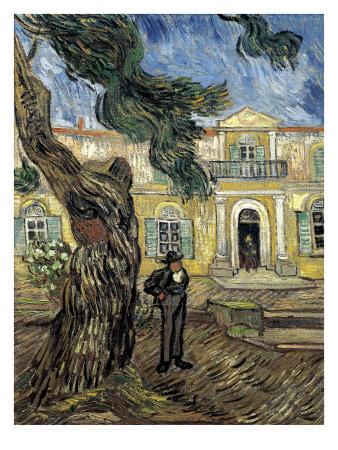 Hospital Saint Paul at Saint-Rémy-De-Provence Posters by Vincent van Gogh