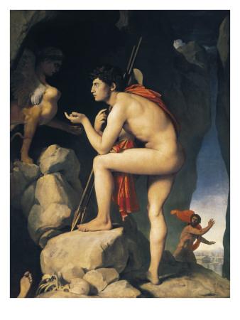 Oedipus and Sphinx (Edipe Explique L'Énigme Du Sphinx) Prints by Jean-Auguste-Dominique Ingres
