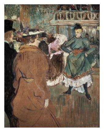 Quadrille at the Moulin Rouge Lámina por Henri de Toulouse-Lautrec