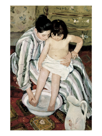 The Child's Bath Posters by Mary Cassatt