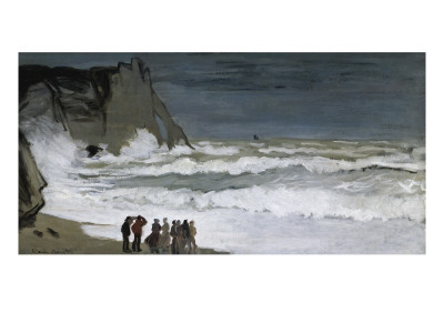 Rough Sea at Etretat Posters by Claude Monet