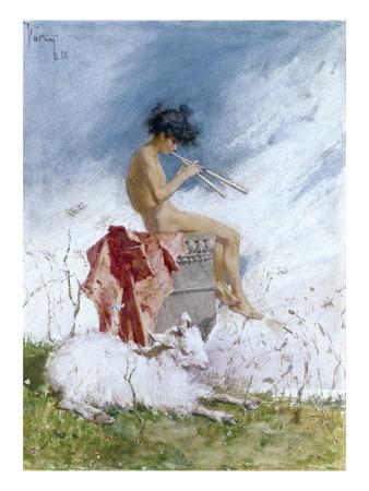 Idyll Art by Mariano Fortuny y Marsal
