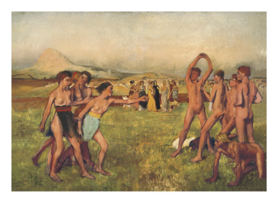 Young Spartans Prints by Edgar Degas
