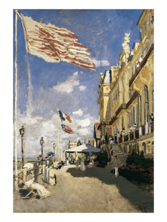 Hotel Des Roches-Noires in Trouville Prints by Claude Monet