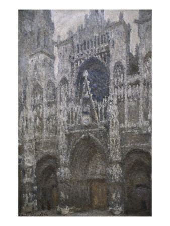 Rouen Cathedral, West Portal, Dull Weather Posters by Claude Monet