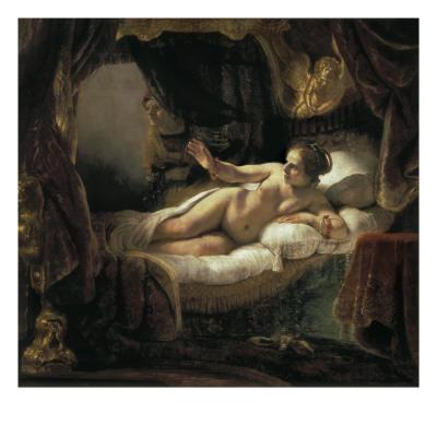 Danae Posters by  Rembrandt van Rijn
