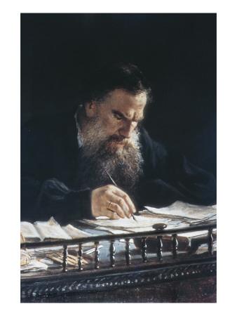 Portrait of Leon Tolstoy Print by Nikolai Nikolajevitch Gay