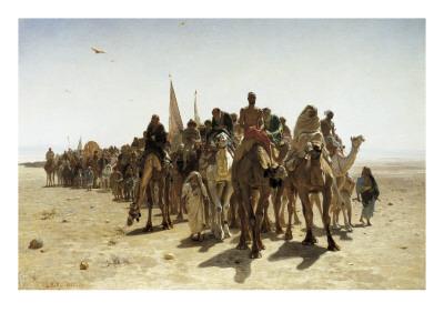 Pilgrims Going to Mecca (Pélerins Allant À La Mecque) Prints by Leon-Auguste-Adolphe Belly