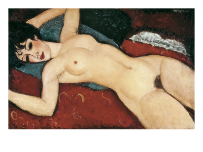 Sleeping Nude with Arms Open (Red Nude) Poster di Amedeo Modigliani
