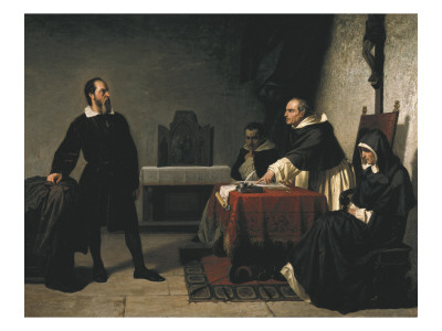 The Trial of Galileo Art by Cristiano Banti