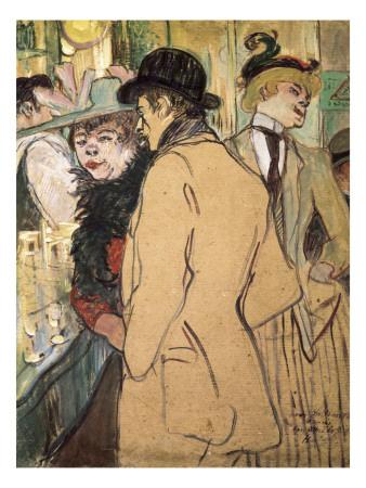 Alfred La Guigne Prints by Henri de Toulouse-Lautrec