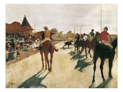 The Parade, or Race Horses in Front of the Stands Posters by Edgar Degas