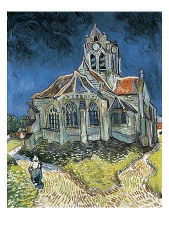 The Church at Auvers-Sur-Oise (L'Église D'Auvers-Sur-Oise, Vue Du Chevet) Art by Vincent van Gogh