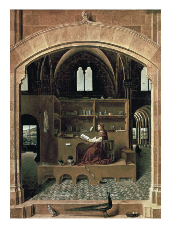 Saint Jerome in His Study Giclée-Druck