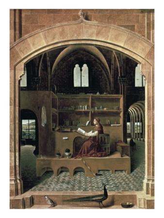 Saint Jerome in His Study Prints by  Antonello da Messina