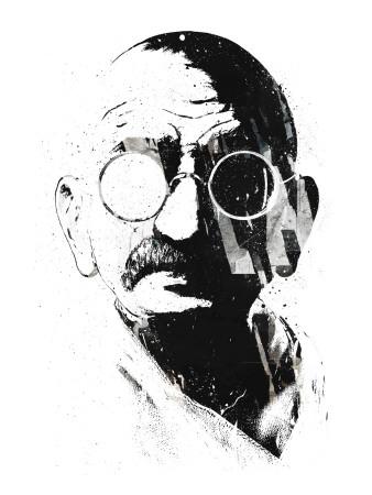 Gandhi Poster by Alex Cherry