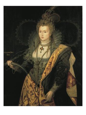 Elizabeth I, Queen of England Prints by George Peter Alexander Healy