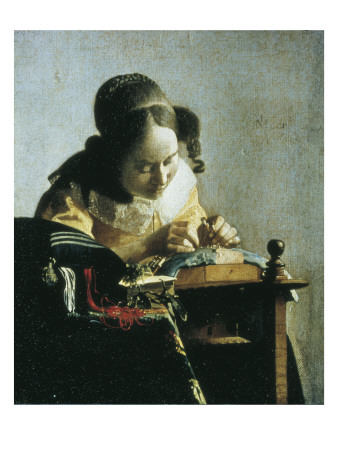 The Lacemaker Posters by Jan Vermeer
