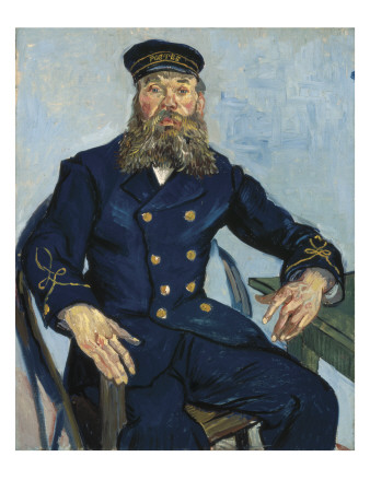 Postman Joseph Roulin Art by Vincent van Gogh