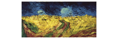 Wheat Field with Crows Giclee Print