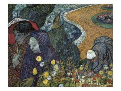 Memory of the Garden at Etten (Ladies of Arles) Giclee Print
