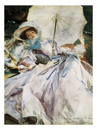 Lady with Parasol Art by John Singer Sargent