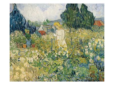 Mademoiselle Gachet in Her Garden at Auvers-Sur-Oise (Mademoiselle Gachet Print by Vincent van Gogh
