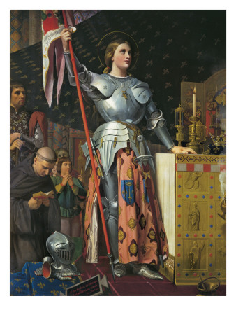 Joan of Arc on Coronation of Charles Vii in the Cathedral of Reims Print by Jean-Auguste-Dominique Ingres